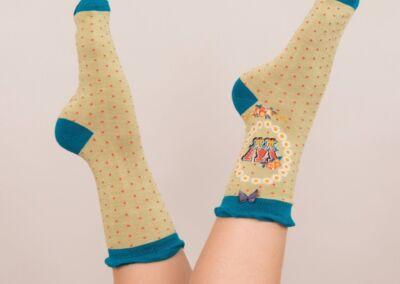 Powder Alphabet socks W