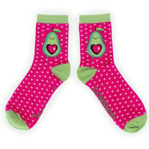 Powder Deasign Bambboo Socks Avocado design