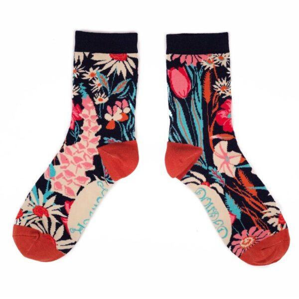 Powder Design Socks Country Garden Navy