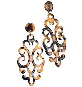 earrings acrylic fretwork tortoiseshell