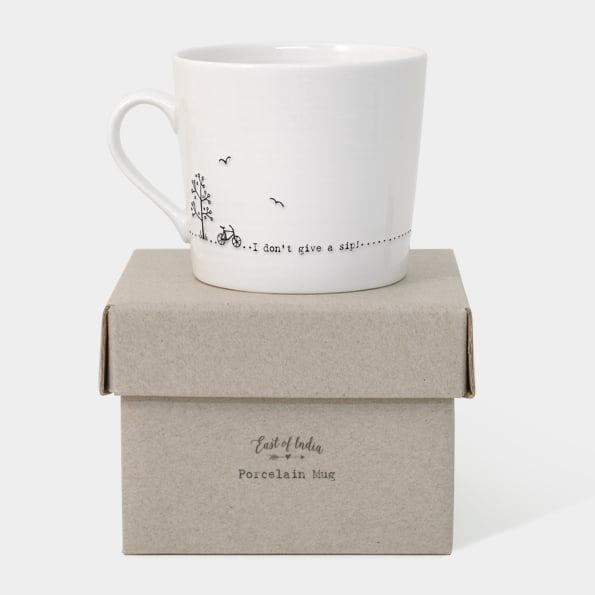 East Of India 'I Don't Give A Sip' Boxed Mug