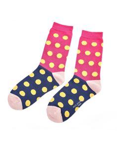 Miss Sparrow Ladies Bamboo Socks, Spots