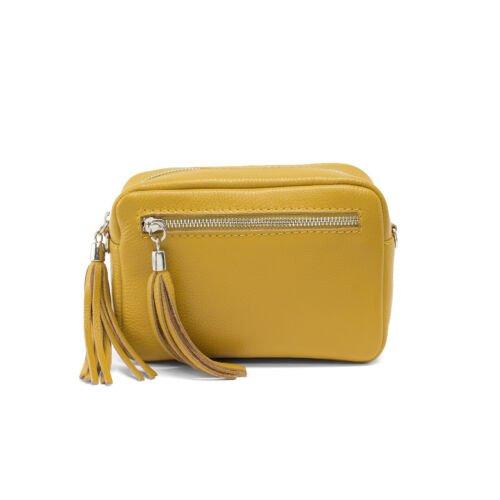 Mustar small shoulder bag leather