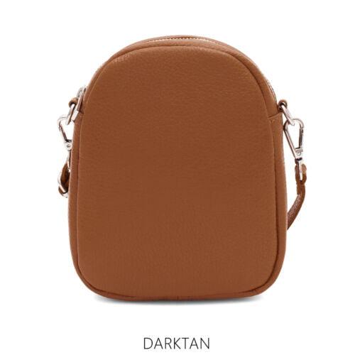 Small Leather Cross body bag Dark Tan