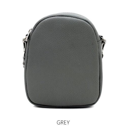 Small Grey Leather Cross body bag Grey