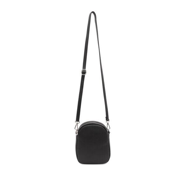 Small Black Leather Cross body bag Black