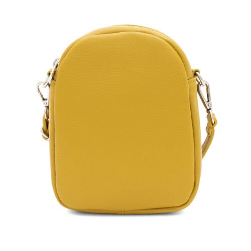 Small Leather crossbody bag in mustard