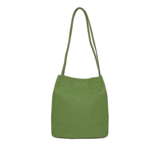 Long Strappy Shoulder Bag. Green