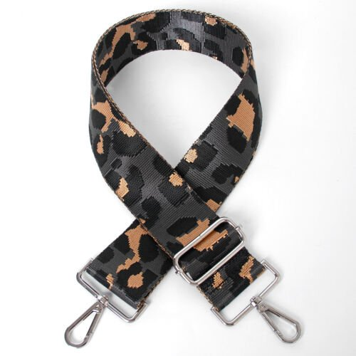 Grey Leopard Bag Strap