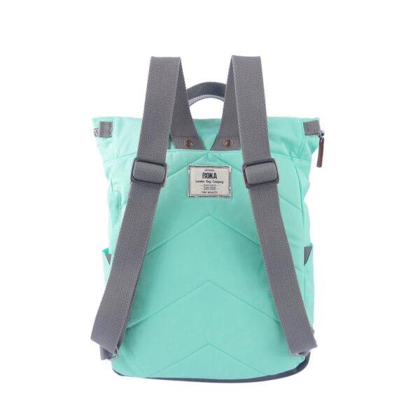 Canfielsb small rucksack by Roka mint