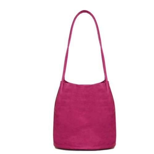 Shoulder Bag with Long Straps. Purple