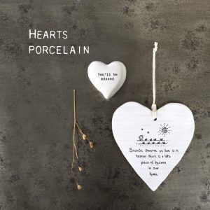East Of India Porcelain Hearts