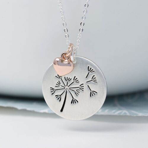Silver Plated Dandelion Necklace