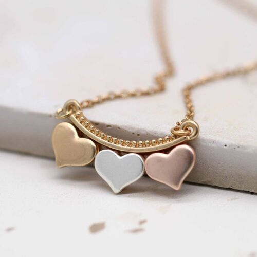 Silver Gold Rose Gold Coloured necklace