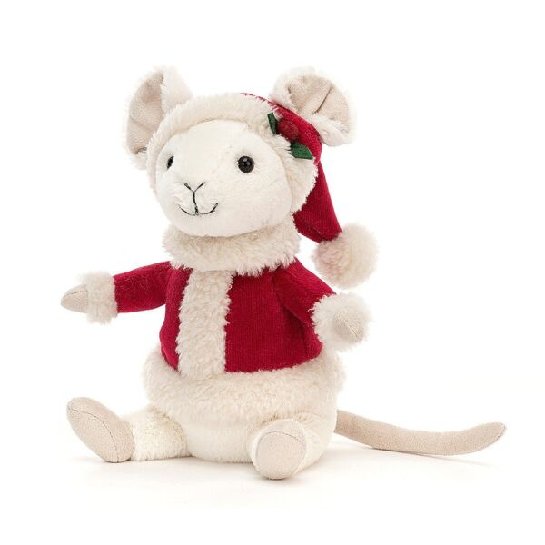 Jellycat Merry Mouse In Santa Outfit