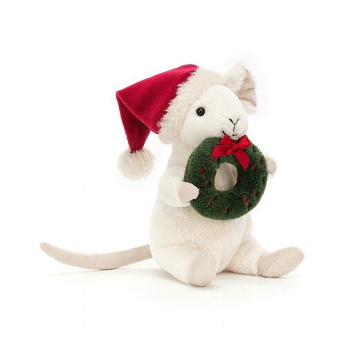 Jellycat Merry Mouse with a Wwreath