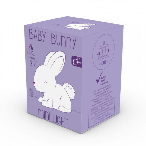 Boxed colour changing nightlight bunny