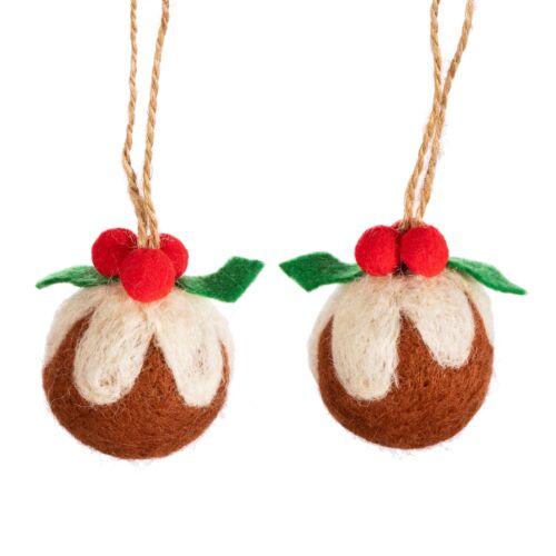 Christmas Pudding felt decoration