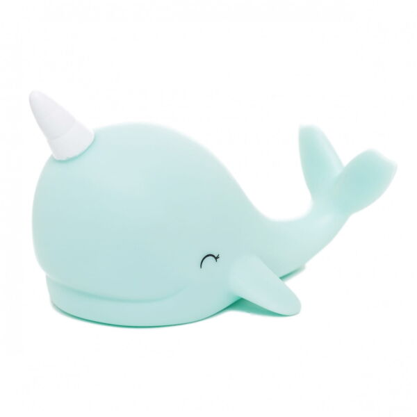 Night light baby narwhal colour changing